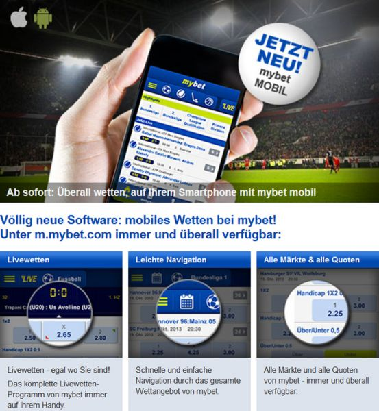 mybet.com Mobile Version